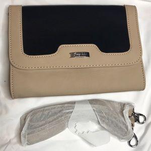 Grace Adele Bags - Grace Adele Lou black faux leather clutch
